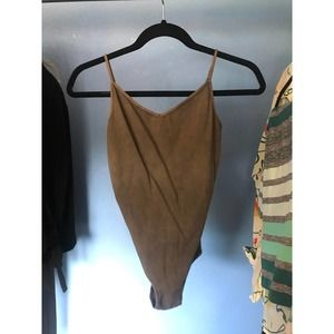 Free People Green Bodysuit S Ribbed